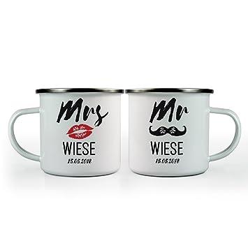 Mrs Und Mr Tassen Set Personalisiertes Hochzeitsgeschenk Tasse