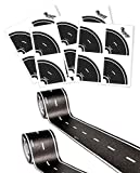 PlayTape Classic Road Builder Set - 2 Rolls of 15'x2'' Black Road PLUS 2 Pack of Tight Curves - Instantly Create your Own Roads Anytime, Anywhere - Perfect For Parties & Gifts