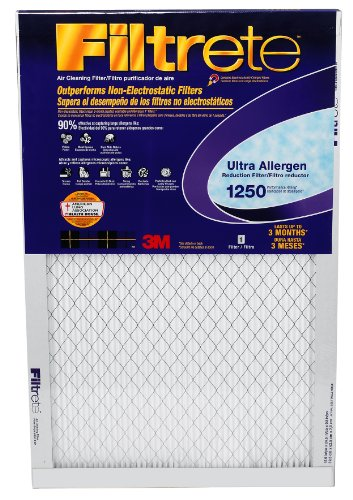 Filtrete Healthy Living Ultra Allergen Reduction Filter, MPR 1500, 14 x 20 x 1-Inches, 4-Pack