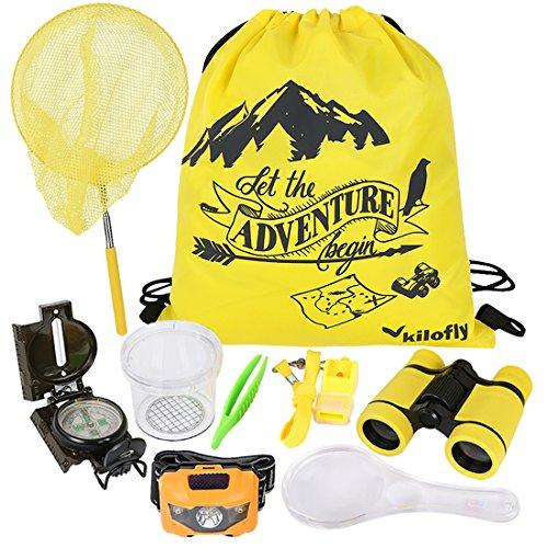 kilofly 9-in-1 Kids Nature Explorer Kit Fun Backyard Bug Catching Adventure Pack ()