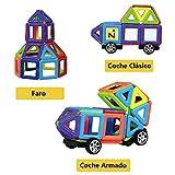 Innoo Tech Juguetes Construcción Mini 76 Piezas Bloques Magnéticas Juego de Construcción Creativos y Educativos Para Niños Más de 3 Años Aprender Colores y Formas a través del Juego Mejor Regalo de Navidad y Los Reyes Magos