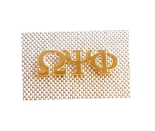 Omega Psi Phi Fraternity Gold 3 Greek Letters Lapel Pin
