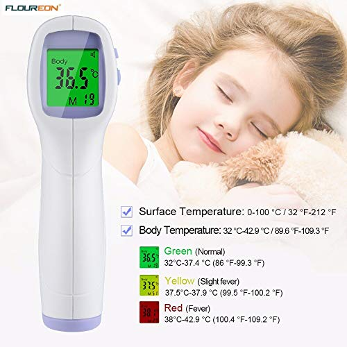Temperature Instruments PC868 Infrared Thermometer Gun Professional Digital LCD Non-contact Multinational Handheld Temperature Measurement Device