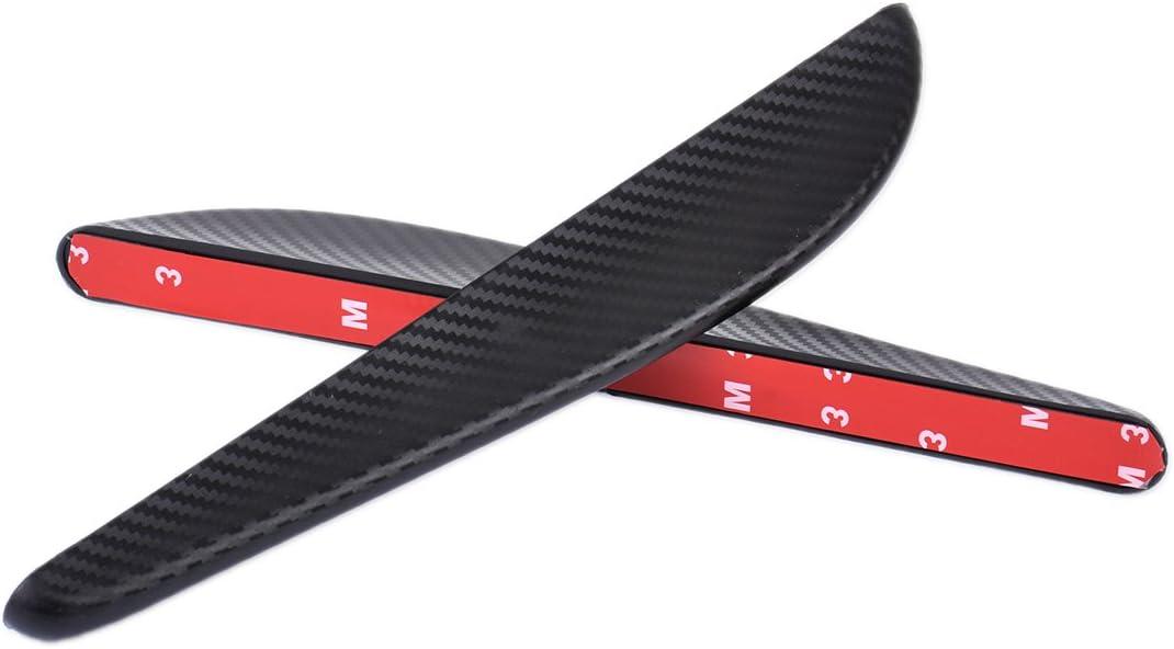beler 2pcs 24.5cm Universal Carbon Fiber Car Bumper Body Edge Corner Anti-Scratch Protector Bar Strip Guard Sticker
