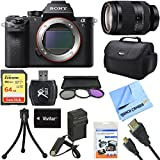 Sony a7R II Full-frame Mirrorless 42.4MP Camera 24-240mm Lens Bundle includes Camera, FE 24-240mm Full-frame E-mount Telephoto Zoom Lens, 72mm Filter Kit, 64GB SDXC Memory Card, Bag and Much More!