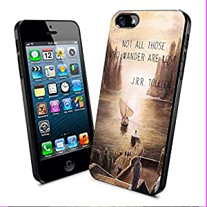 Diy iphone 5 5s case Not All Those Who Wander Are Lost Jrr Tolkien Quotes Iphone and Samsung Galaxy Case (iPhone 5 5S Black)