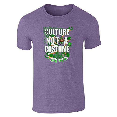 [Culture Not A Costume St Patrick's Day Heather Purple S Short Sleeve T-Shirt by Pop Threads] (Funny Pop Culture Costume Ideas)