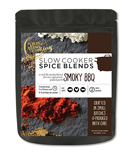 (the zen of slow cooking, Gourmet Slow Cooker Spice Blends, Smoky BBQ, 2 Gluten Free Spice Packets, 2.4 oz)