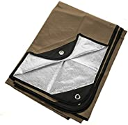 """Arcturus Heavy Duty Survival Blanket - Insulated Thermal Reflective Tarp - 60"""" x 82"""". All-Weather, R"""