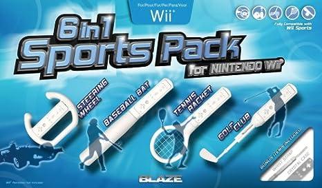 6 in 1 Sports Accessory Pack (Wii) [Importación inglesa]: Amazon.es: Videojuegos
