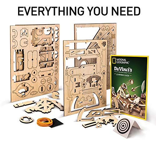 51ePLnPos2L - NATIONAL GEOGRAPHIC - Da Vinci's DIY Science & Engineering Construction Kit - Build Three Functioning Wooden Models: Catapult, Bombard & Ballista