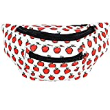 Fruity Fanny Pack, Stylish Party Boho Chic Handmade with Hidden Pocket (Apples)