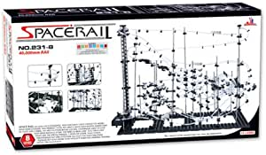 Black Great Educational Toy for Boys /& Girls Marble Roller Coaster Kit with Steel Balls 000Mm Rail Level 4.2 Roller Coaster Building Set SpaceRail Glow in The Dark 22