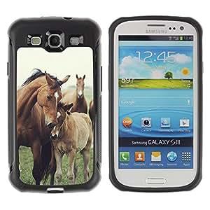 Suave TPU GEL Carcasa Funda Silicona Blando Estuche Caso de protección (para) Samsung Galaxy S3 III I9300 / CECELL Phone case / / horse cub nature foal animal summer /