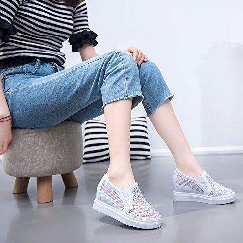 Alta Sandalias Plano Moda black Net AJUNR de Casual Deportes Calzado Interior taladrar Fondo Elegante Zapatos Transpirable Gasa YtaHOTq