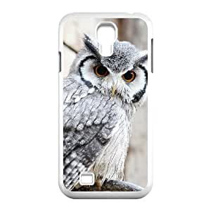 Okaycosama Funny Samsung Galaxy S4 Cases Cute Owl 2 for Guys Design, Phone Case for Samsung Galaxy S4 I9500, [White]