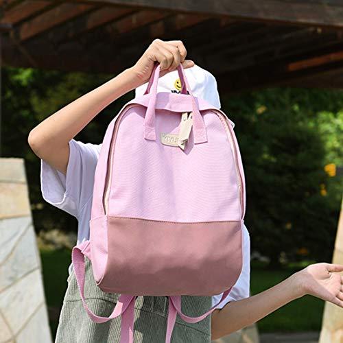 Capacidad Para Parte Las Mochila color Popular Escuelas Escuela Gran Ligera Señoras Pink Universidad Weatly Green La De Posterior q8RROCx