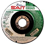 United Abrasives 4 1/2'' X 1/4'' X 7/8'' C24N 24 Grit Silicon Carbide Type 27 Grinding Wheel, Package Size: 25 Each