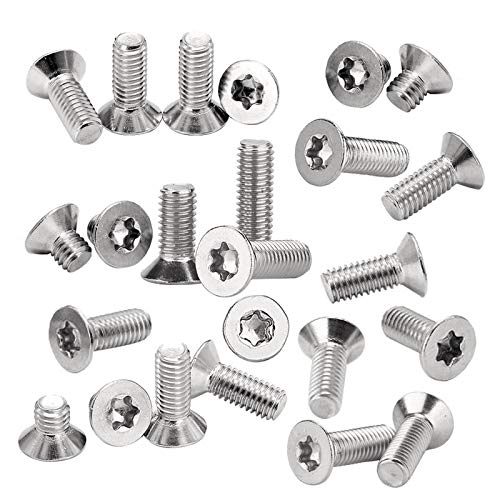 Screw 50Pcs Torx Wood Screws M2 M2.5 M3 M4 3-30mm Stainless Steel 304 Hex Countersunk Screw Flat Head Screw Bolt Household Tool - (Size: M2.5, Length: 8mm) from Unknown