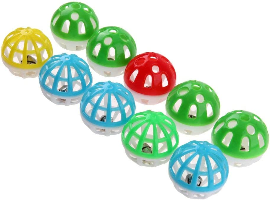aoory Juego de Pelotas de plástico Huecas Redondas para Mascotas y ...
