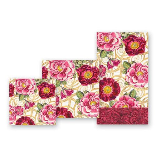20 x Plain Red Paper Napkins Lunch Size 33 x 33cm Christmas Valentine Ruby