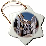 Novelty Christmas Decorations Spain Andalusia Malaga Province Ronda Street Scene In Ronda Porcelain Snowflake Ornament Craft Crafts Xmas Tree Hanging
