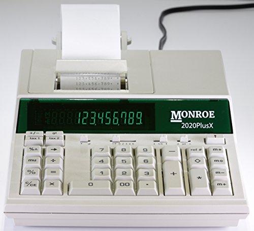 - (1) Monroe 2020PlusX 12-Digit Medium-Duty Color Printing Calculator in Ivory
