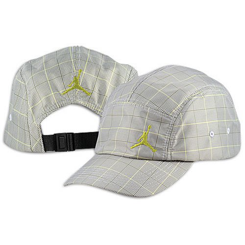 Game Day Visor (Jordan Lifestyle Gameday Plaid Visor ( sz. One Size Fits All, Neutral Grey/Bright Cactus ))