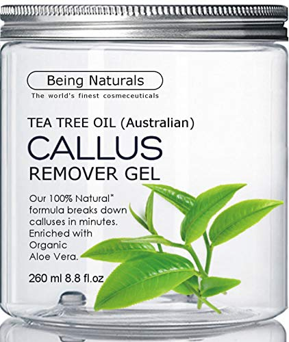 Tea Tree Oil Callus Remover - HUGE 8.8 oz - professional foot cream for dry cracked feet & for foot scrubber, pedicure tool, corn remover
