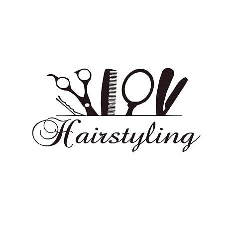 Amazoncom Hairstyling Scissor Wall Sticker Hairdresser