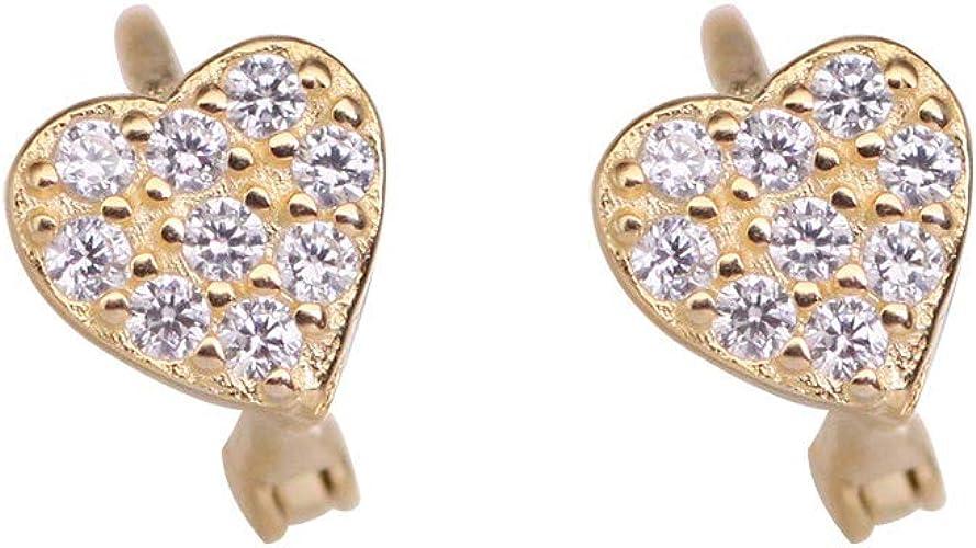 S925 Sterling Silver Stud Earrings Black Plated Tiny Circle Earrings for Women Girls
