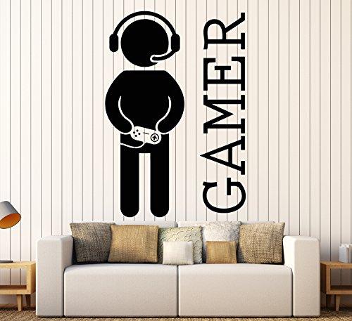 Wall Stickers Vinyl Decor Video Games Gamer For Living Room (z2065)