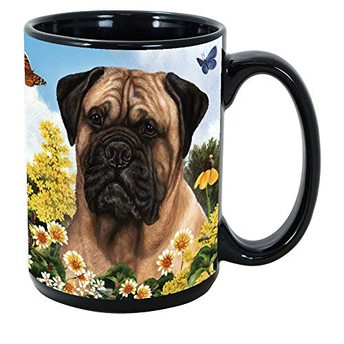 Mug Bullmastiff - Imprints Plus Dog Breeds (A-D) Bullmastiff 15-oz Coffee Mug Bundle with Non-Negotiable K-Nine Cash (bullmastiff 043)