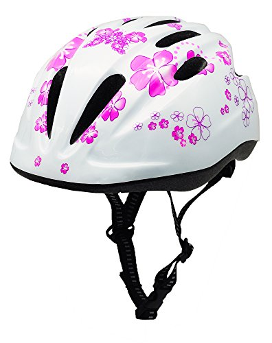 BeBeFun Pink Girl Toddler and Kids Multi-Sport Bike Super Lightweight Helmet (Angel)