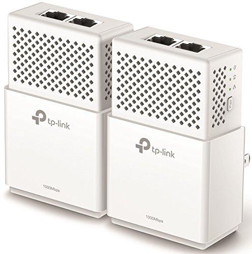 TP-Link AV1000 2-Ports Gigabit Powerline ethernet adapter kit, Powerline speeds up to 1000 Mbps (TL-PA7020 KIT_V2) by TP-Link (Image #1)