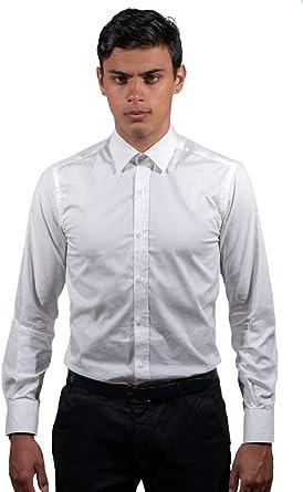Camisa Hombre Camisa Blanca Slim Fit 100% Algodón: Amazon.es ...