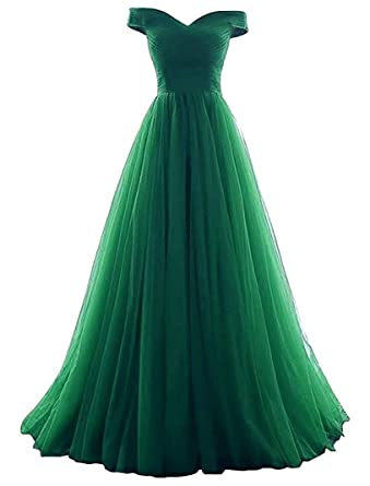 251e2d01560 Vickyben Women s A-Line Tulle Prom Formal Evening Homecoming Dress Ball Gown