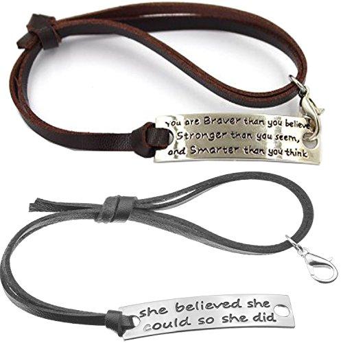 Inspirational Bracelet Fitness Motivation Adjustable