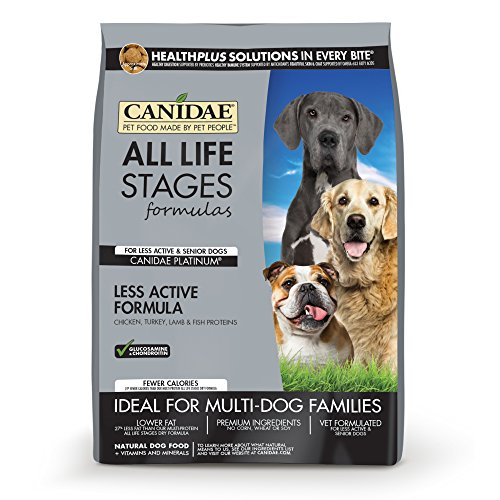 CANIDAE All Life Stages Platinum Less Active Dog Dry Food Multi-Protein Formula, 30 lbs
