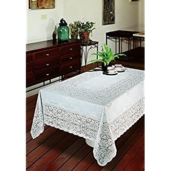 Early American Designs, Vinyl Lace Tablecloth. Elegant, Easy To Care For,  Light Gauge Vinyl. Machine Washable. Dryer Safe When You Follow  Instructions ...