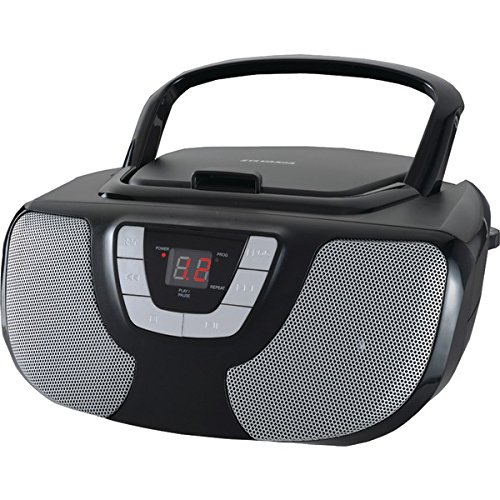 Sylvania Portable Player Radio Black