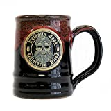 2018 Valhalla Java Ceramic Tankard - Handmade in the U.S.A - Black Mug with Red Glaze - 16 Ounce