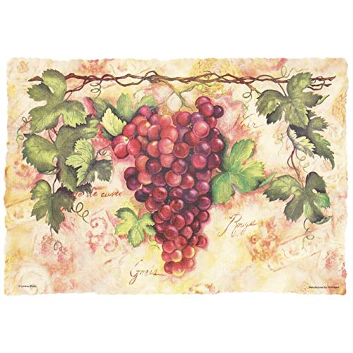 Hoffmaster Tuscany Grapes Paper Placemats Scalloped Burnt Edge 50 per Pack ()