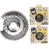 16-Piece Aluminum Foil Burner Liners For Electric Stove (10 Small and 6 Large)