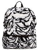 Faux Fur Animal Print Backpack Zebra