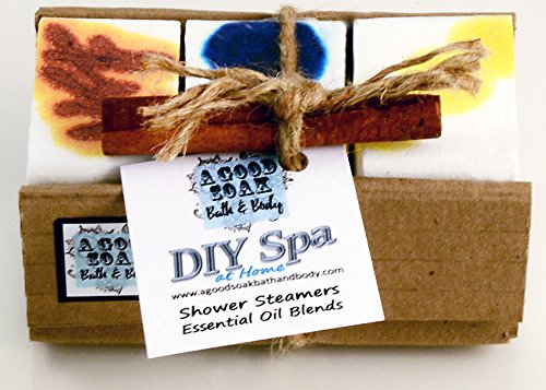 DIY SPA AT HOME Shower Steamers Bundle of 6 OR 3 Essential Oil Blends Aromatherapy & Colors (Awake Relax Spice, 3 Steamers)