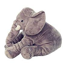 niceEshop(TM) Large Baby Kids Toddler Stuffed Elephant Plush Pillow Cool Big Cushion Soft Nursery Toy Doll Best Girls Children Gifts,Gray