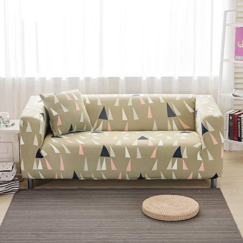 KKONION Elastic Sofa Cover Stretch Fabric Anti-Slip Flexible Sofa Covers Single/Love Seat/L-Style Sectional/Corner (Fabric Slipcovered Loveseat)