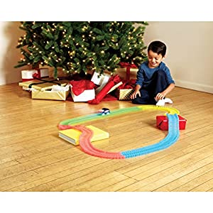 Amazing Tracks 11 ft. 220 Pieces Glow In Dark Mega Set Track with LED Light-up Colorful Race Car