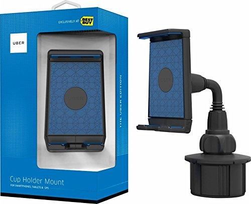 Bracketron Uber Phabgrip Cup Holder Mount for Tablet Phablet-Style iPad Samsung Galaxy Tab S4 S3 Microsoft Surface Pro Asus ZenPad 3S 10 Lenovo IdeaPad Huawei MediaPad Amazon Fire UB1-939-2 by Bracketron